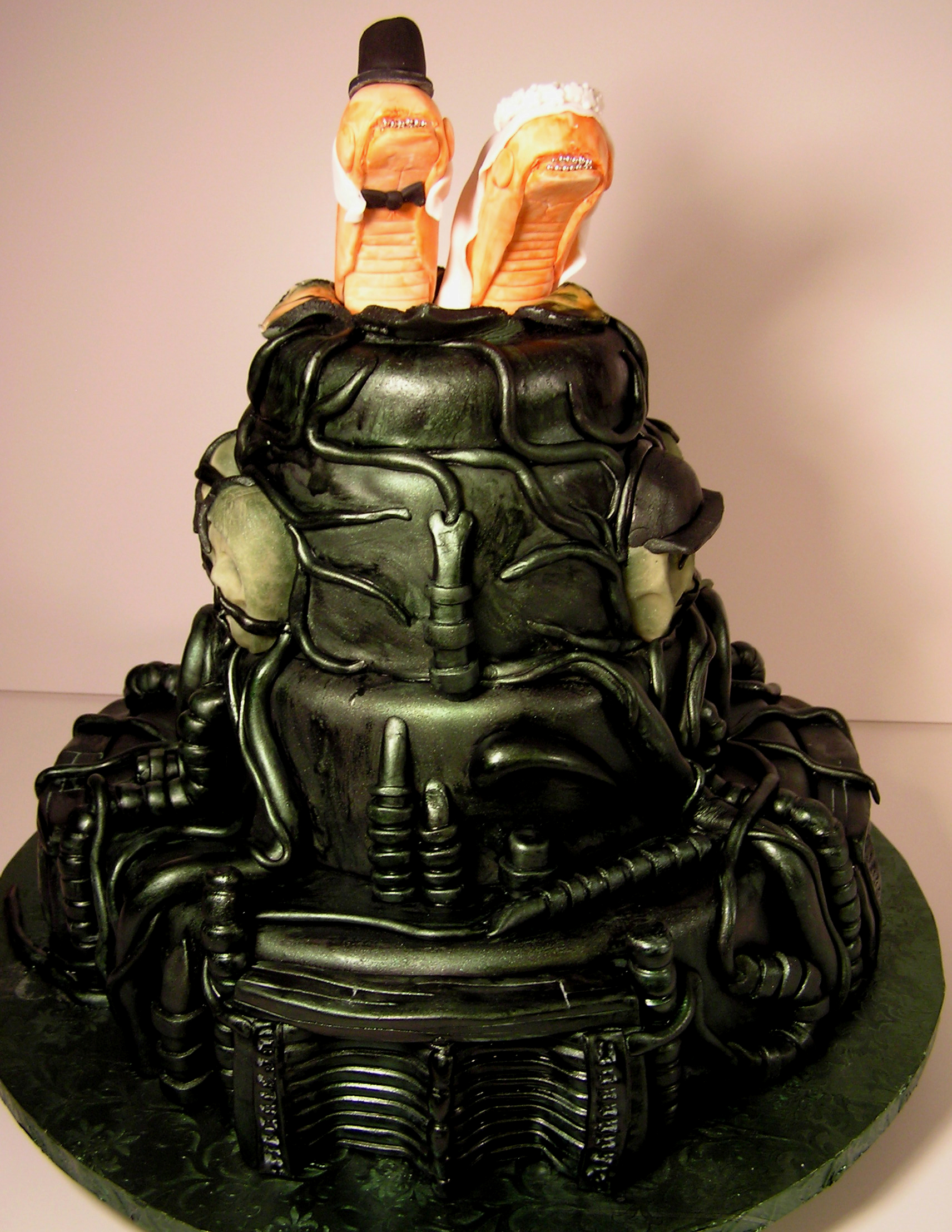 Movie Maven Alien Wedding Cake